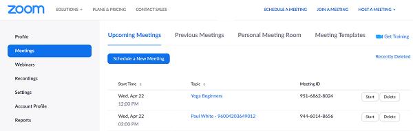 My Meetings Zoom(1)