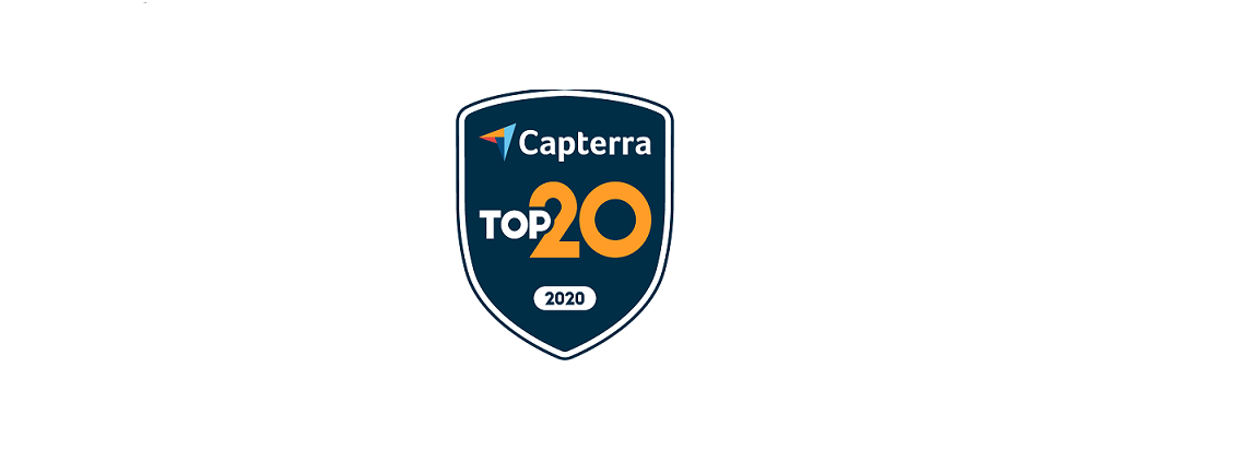 Capterra Awards Bookeo as Top 20 Reservations Software
